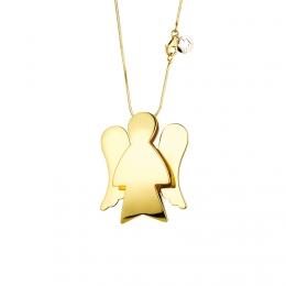 Přívěsek na řetízku - anděl ze žlutého zlata, PZ561