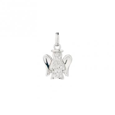 Přívěsek - anděl z bílého zlata s diamanty, PZ570