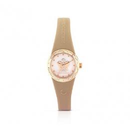 Béžové hodinky s andělem, malý ciferník, ANT15