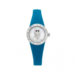 Barevné hodinky se sovou, malý ciferník