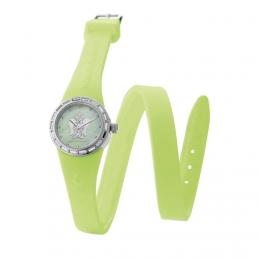 Barevné hodinky s andělem, malý ciferník, dvojiný řemínek