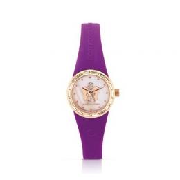 Fialové hodinky s andělem, malý ciferník, ANT16