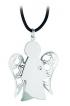 Přívěsek - anděl z bílého zlata s diamantem, PZ582
